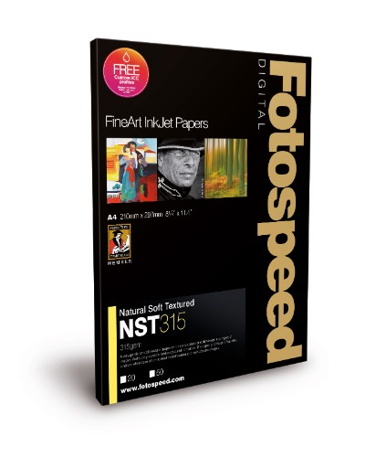 Fotospeed Digital Fine Art Inkjet Paper Natural Soft Textured - 315gsm A4 25sheets
