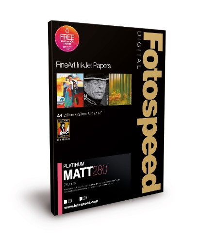 Fotospeed Digital Fine Art Inkjet Paper PLATINUM Matt - 280gsm A3 25sheets
