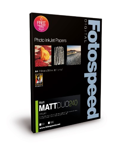 Fotospeed Digital Inkjet Photo Paper Matt DUO - 240gsm A4 100 sheets
