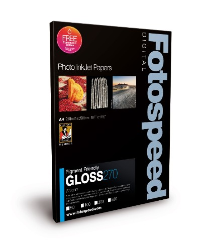 Fotospeed Digital Inkjet Photo Paper PF Gloss - 270gsm A3 50 sheets