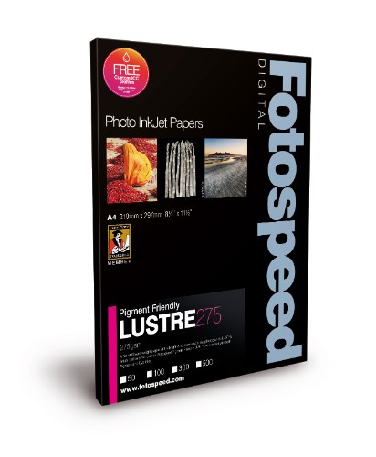 Fotospeed Digital Inkjet Photo Paper PF LUSTRE 275gsm 6x4 100sheets