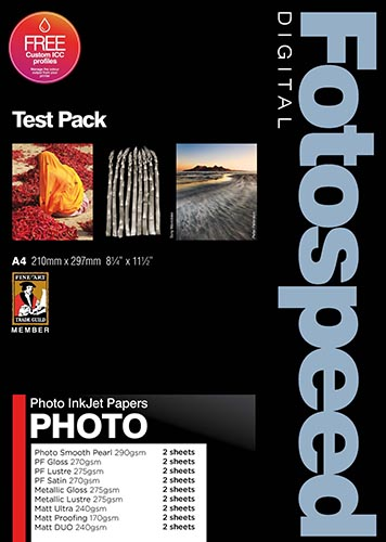 Fotospeed Fine Art and Photo papers Test pack