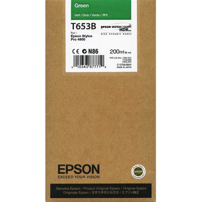 Epson 4900 Utrachrome HDR Green Ink Cartridge 200ml
