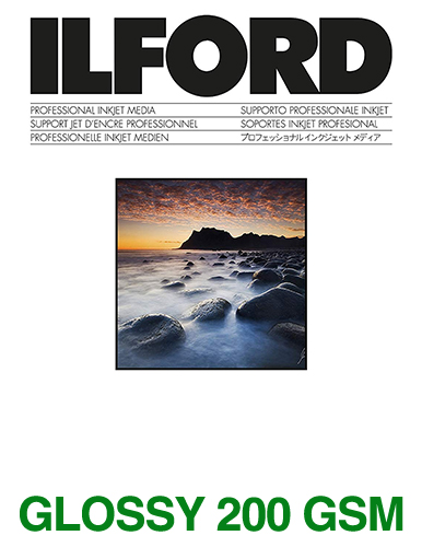 ILFORD STUDIO Glossy 200gsm/8Mil A4 - 210mm x 297mm 100 sheets