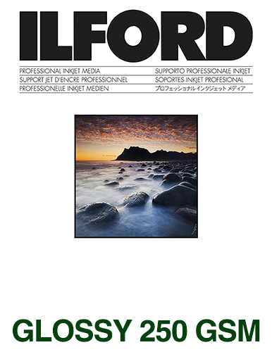 ILFORD STUDIO Glossy 250gsm/10Mil A4 - 210mm x 297mm 100 sheets