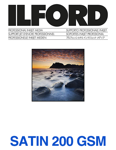 ILFORD STUDIO Satin 200gsm/8Mil A4 - 210mm x 297mm 100 sheets