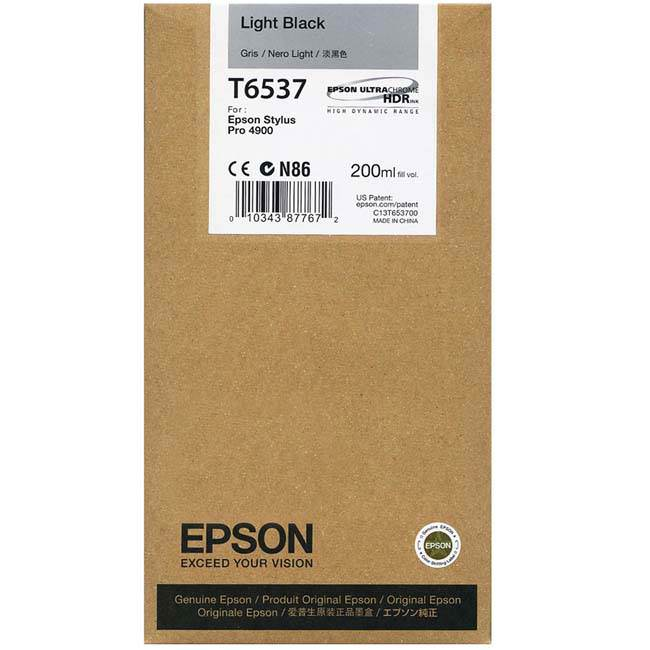 Epson 4900 Utrachrome HDR Light Black Ink Cartridge 200ml