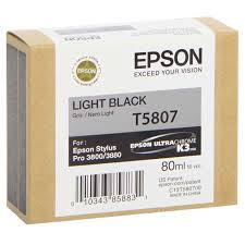 Epson Stylus Pro 3880 / 3800 80ml Light Black ink cartridge C13T580700