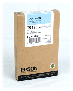 Epson Stylus Pro 4000/7600/9600 220ml Light Cyan ink cartridge C13T544500