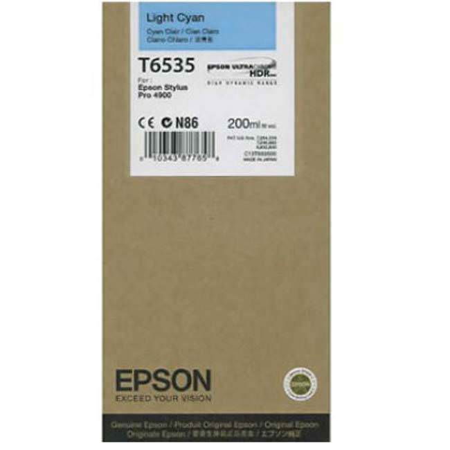 Epson 4900 Utrachrome HDR Light Cyan Ink Cartridge 200ml