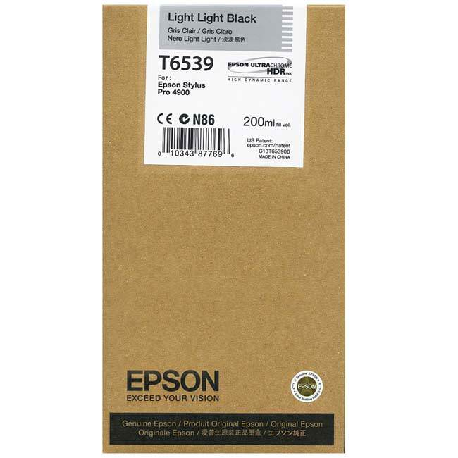 Epson 4900 Utrachrome HDR Light Light Black Ink Cartridge 200ml