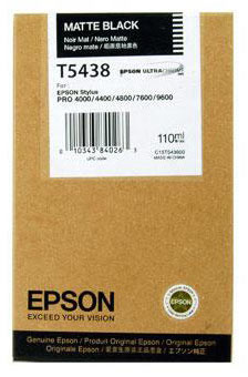 Epson Stylus Pro 4000/7600/9600 110ml Matt Black ink cartridge C13T543800