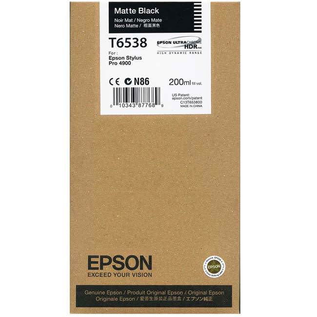 Epson 4900 Utrachrome HDR Matte Black Ink Cartridge 200ml