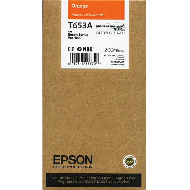 Epson 4900 Utrachrome HDR Orange Ink Cartridge 200ml