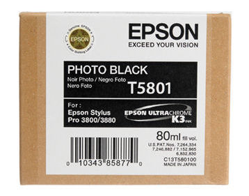 Epson Stylus Pro 3880 80ml Photo Black ink cartridge C13T580100