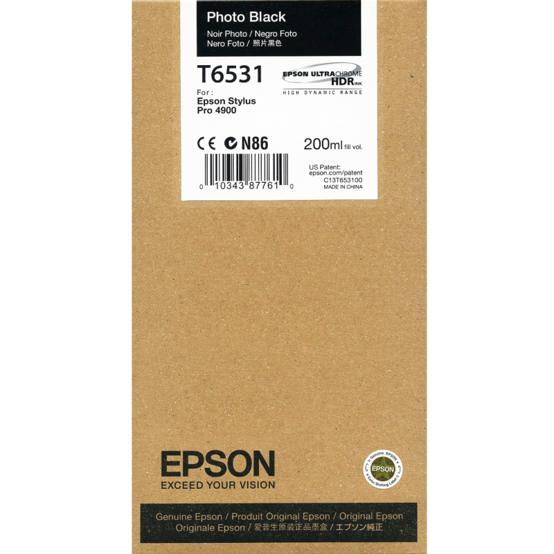 Epson 4900 Utrachrome HDR Photo Black Ink Cartridge 200ml