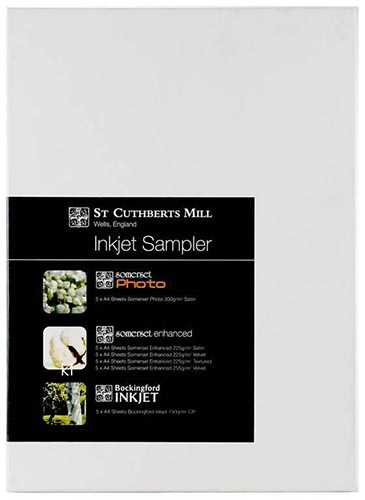 St Cuthberts Mill Inkjet Sampler 30 sheets 6 Types A4 Pack