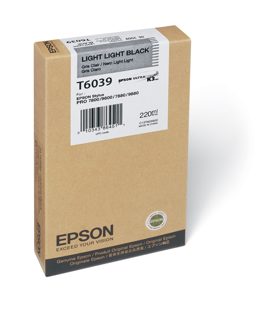 Epson Stylus Pro 7800/ 7880/ 9800/ 9880 220ml Light Light Black ink cartridge