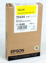 Epson Stylus Pro 4000/7600/9600 110ml Yellow ink cartridge C13T543400